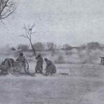 Rosyjska artyleria podczas bitwy pod Mukden, fot Collier, 1905 r