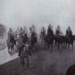 Rosyjska kwaleria podczas bitwy pod Mukden, fot Collier, 1905 r