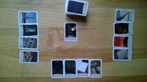 Przykładowe rozdanie dla trzech graczy / fot. Wojtek Duch