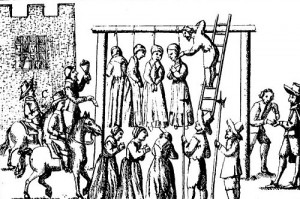 Wieszanie czarownic w Anglii, 1655 r.
