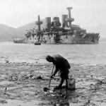 Zniszczony rosyjski pancernik Pierieswiet, 1905