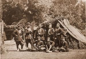 Żołnierze gruzińskiej milicji, 1877 r