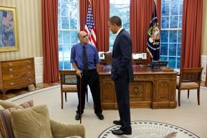 Silva podczas spotkania z prezydentem Barackiem Obamą w Białym Domu w 2011 r.