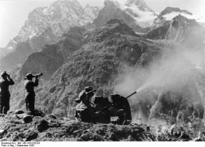 Niemieccy Strzelcy Alpejscy w górach Kaukazu