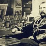 Car Aleksander II w swoim gabinecie, ok 1877-1881 r