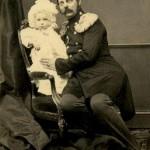 Car Aleksander II ze swoim najmłodszym synem, wielkim księciem Pawłem. 1861 r