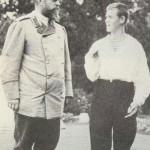 Car Aleksander III z synem, wielkim księciem Michałem