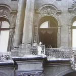 Car pozdrawiający wojska wyruszające na I wojnę światową, 1914 r