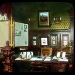 Gabinet Imperatora w Peterhofie, zdjęcie koloryzowane z XX wieku