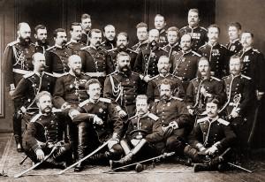 Oficerowie i sierżanci Lejb-Gwardyjskiego Fińskiego Pułku,1878 r