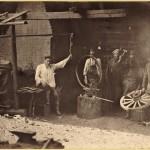Praca w kuźni, koniec XIX wieku