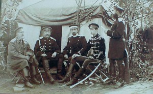 Rosyjscy oficerowie, 1877 r