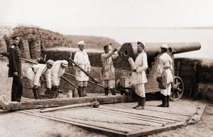 Rosyjskie pozycje artyleryjskie, Korab, Rumunia, 1877 r