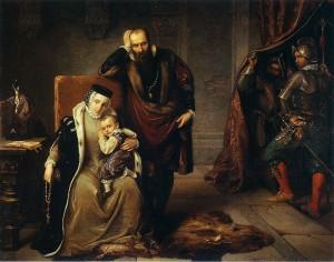 Zygmunt z rodzicami na zamku Gripsholm