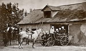 Wysocy oficerowie sztabowi armii rosyjskiej, lato 1877 r