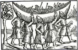 Chąsnicy transportujący łódz