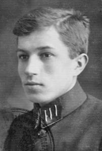 Karol Kuryluk w mundurku gimnazjalnym, 1926 r.