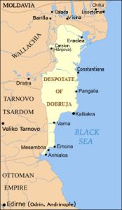 Mapa regionu Dobruja, gdzie znaleziono kryptę/ fot. Spiridon Ion Cepleanu, CC BY-SA 3.0