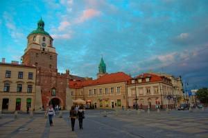 Lublin, Stare Miasto - Brama Krakowska i Plac Łokietka