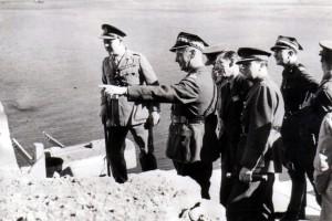 Generał Sikorski wizytujący Gibraltar 4 lipca 1943