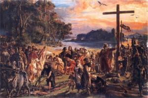 Matejko_Jan_Zaprowadzenie_chrzescijanstwa