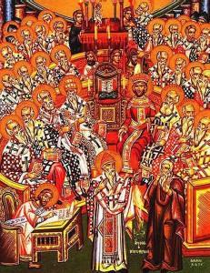 Ikona ukazująca sobór nicejski z 325 roku