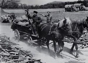 Kozacy oddający się w ręce Brytyjczyków