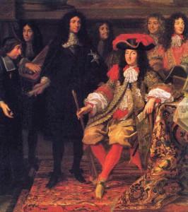 Portret Ludwika XIV i Colberta pędzla Charlesa le Brun