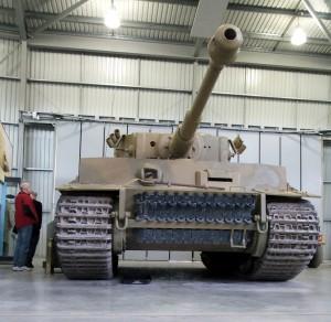 Legendarny Tygrys 131 w Tank Museum w Bovington / fot. Wojtek Duch