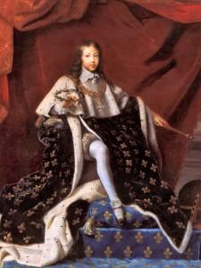 Ludwik XIV podczas swojej koronacji