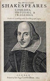 Strona tytułowa Pierwszego Folio, wydanego w 1623 roku
