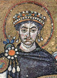 Fragment mozaiki z bazyliki w Rawennie
