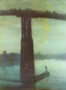 Nokturn w błękicie i złocie, James McNeill Whistler