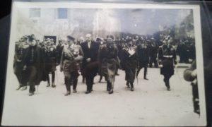 Herman Goering w otoczeniu niemieckiej delegacji / zdjęcie pochodzi ze zbiorów Diany Walawender
