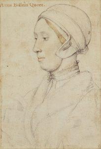 Szkic najprawdopodobniej przedstawiający Annę Boleyn, autorstwa Hansa Holbeina Młodszego