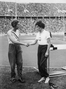 Helen Stephens i Stanisława Walasiewicz na igrzyskach olimpijskich w Berlinie