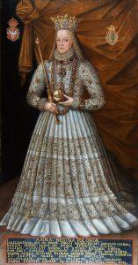Anna Jagiellonka w stroju koronacyjnym