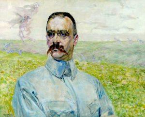 Portret brygadiera Piłsudskiego, autorstwa Jacka Malczewskiego