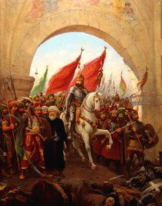 Mehmed II wkraczający do zdobytego Konstantynopola