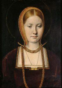 Portret przedstawiający Katarzynę Aragońską, autorstwa Michela Sittow