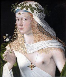 Portret kobiety, uważany za portret Lukrecji autorstwa Bartolomeo Veneto