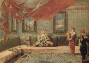 Giovanni Antonio Guardi, Scena w haremie