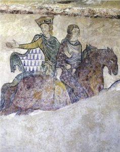 Księżna Akwitanii razem z Ludwikiem i Henrykiem