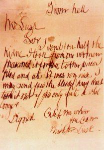 """Fragment listu """"Z piekieł"""""""