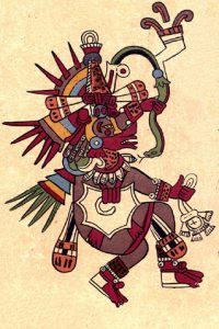 Quetzalcoatl - rysunek z Codex Borbonicus, XVI w.