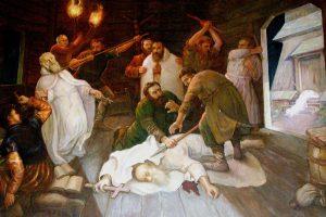 Obraz przedstawiający męczeńską śmierć Pięciu Braci