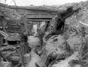Okopy brytyjskie pod Sommą, lipiec 1916