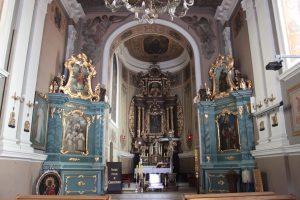 Wnętrze kościoła pw. św. Marcina biskupa w Kazimierzu Biskupim / fot. M. Sypniewska
