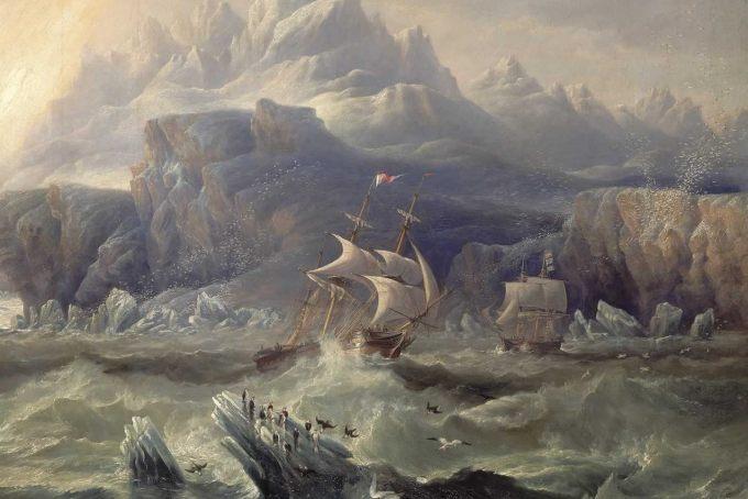 """Erebus"" i ""Terror"" w Nowej Zelandii, 1841, John Wilson Carmichael"