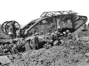 Mark I. Pierwszy użyty bojowo typ czołgu